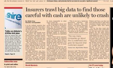 FT Insurers trawl Big Data