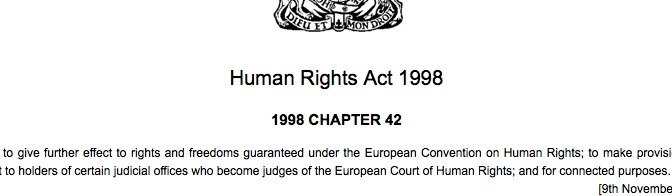 human rights act 1998 header