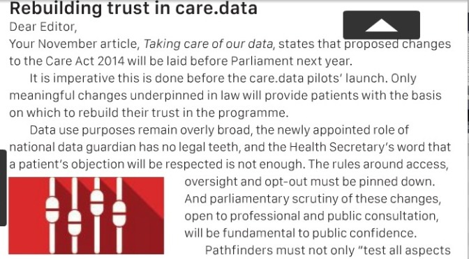 Rebuilding trust in care.data
